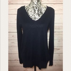 Gap Womens Black V-Neck Pullover sweater Size XS/S